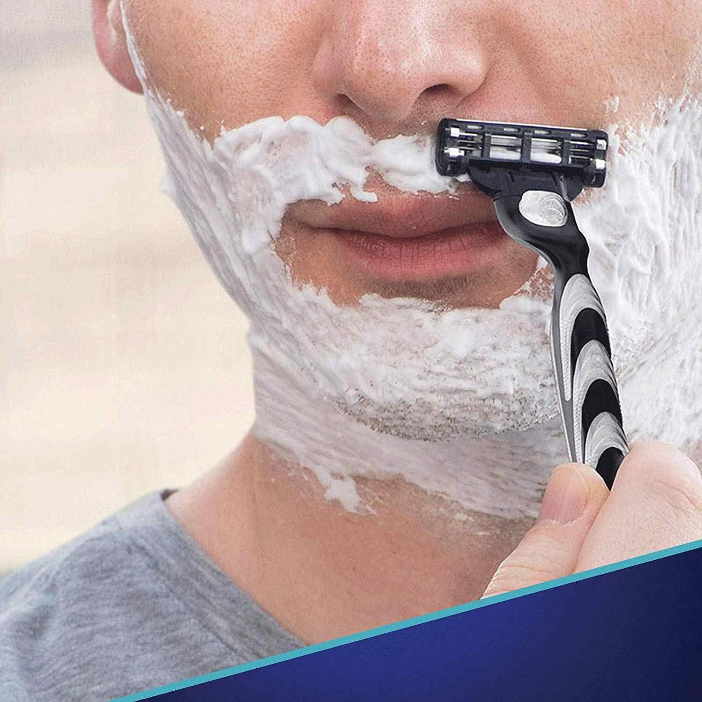 Remplaçable Lames De Rasoir pour Homme Gillette Mach 3 Lames Rasage 1 pièces Porte-4 pièces Cassettes Rasage Mak3 Rasage Cartouche Mach3