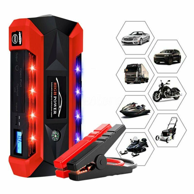 89800mAh Auto Salto di Avviamento Pacchetto LCD Booster 4 Caricatore USB Batteria Accumulatori e caricabatterie di riserva 12V con SOS di Illuminazione di Illuminazione - 3