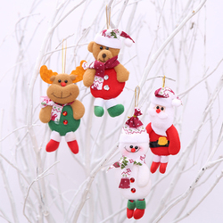 2019 Merry Christmas Ornaments Gift Santa Claus Snowman Tree Toy Doll Hang Decorations For Home Christmas Party New Year Gift 5