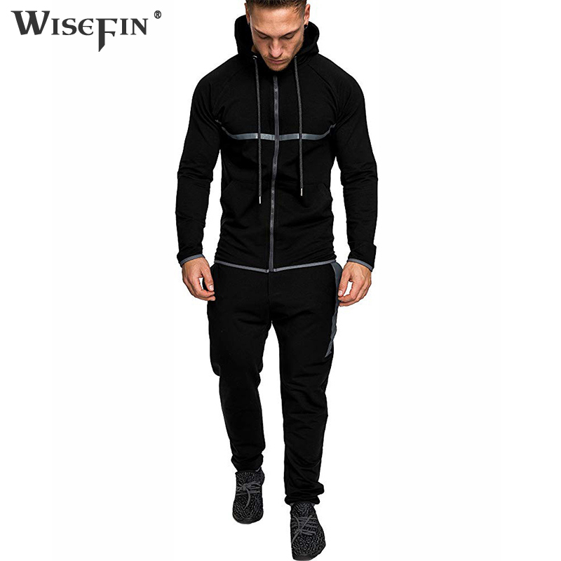 Men's High Street Hoodies Men Tracksuit Casual Soild Long Sleeve Zipper Sportwear Pants Autumn New Dark Gray Army Green D25