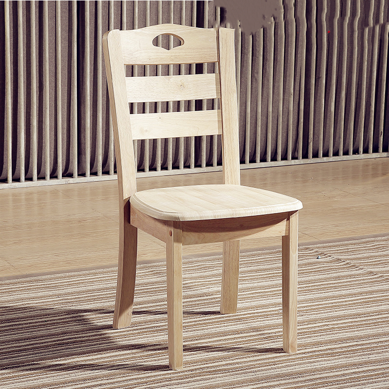 Solid Wood Dining Chair Simple Home Back Chair Hotel Mahjong Table Chair Chair Stool Wooden Chair