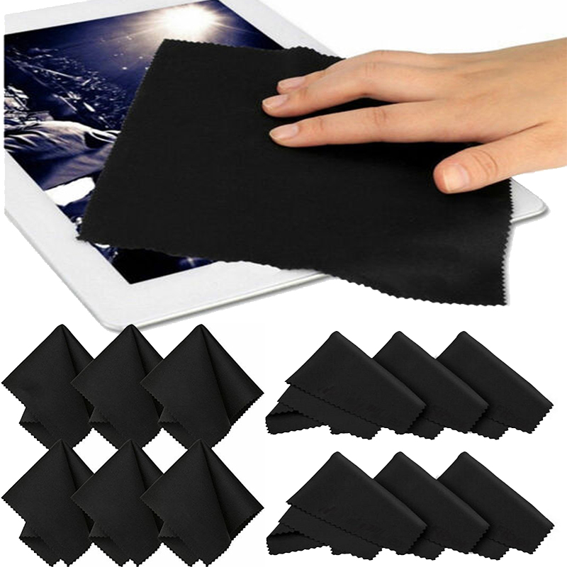 10 pcs/lots Ultra-Soft Glasses Cleaner 15*15 cm Microfiber Glasses Cleaning Cloth For Computer Lens Phone Screen Cleaning Wipe image