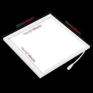 Image 2 - PULUZ 20cm Mini LED fotoğraf gölgesiz işık lambası paneli Pad gölge ücretsiz ışık, fotoğraf stüdyosu aydınlatma akrilik malzeme