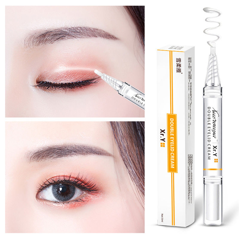 New Magic False Eyelash Glue Adhesive Double Eyelid Tape Cream Glue Eye Makeup  Double Eyelid Cream Invisible Waterproof Glue
