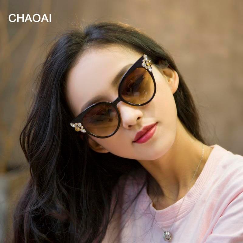 CHAOAI  2019 Eye wear Butterfly Designer Sexy Woman Fashion Eyeglass Women's Round Sun Glasses
