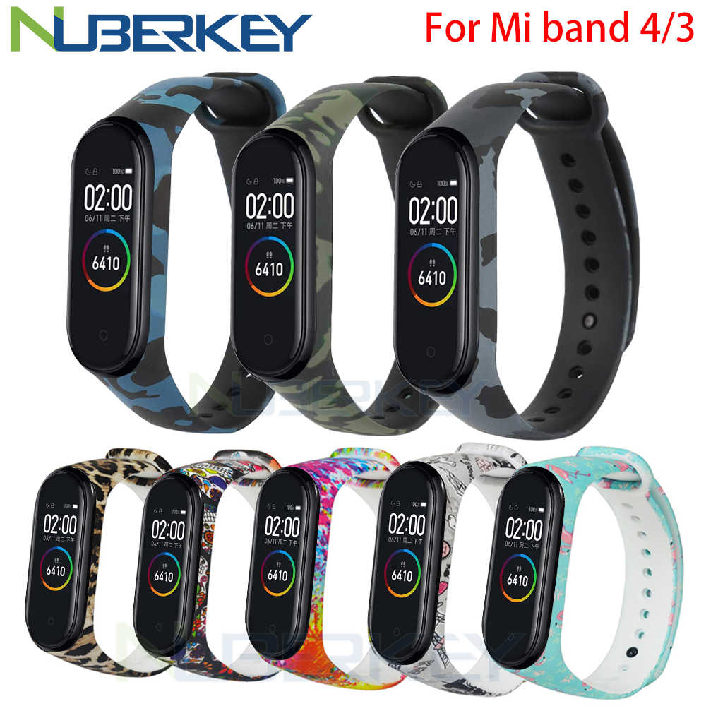 Camouflage Bracelet For Xiaomi Mi Band 4 Strap Silicone Printing Flowers Strap Miband 3 Accessories For Xiaomi Miband 4 Nfc Band Smart Accessories Aliexpress