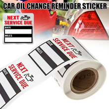 New Oil Change Service Reminder Sticker Clear Window Lite Stock 100pcs/Roll Stickers