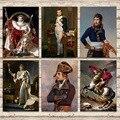 Портрет императора Наполеона Бонапарта, картины на холсте, винтажный постер из крафт-бумаги, наклейки на стену с покрытием, украшение для до...