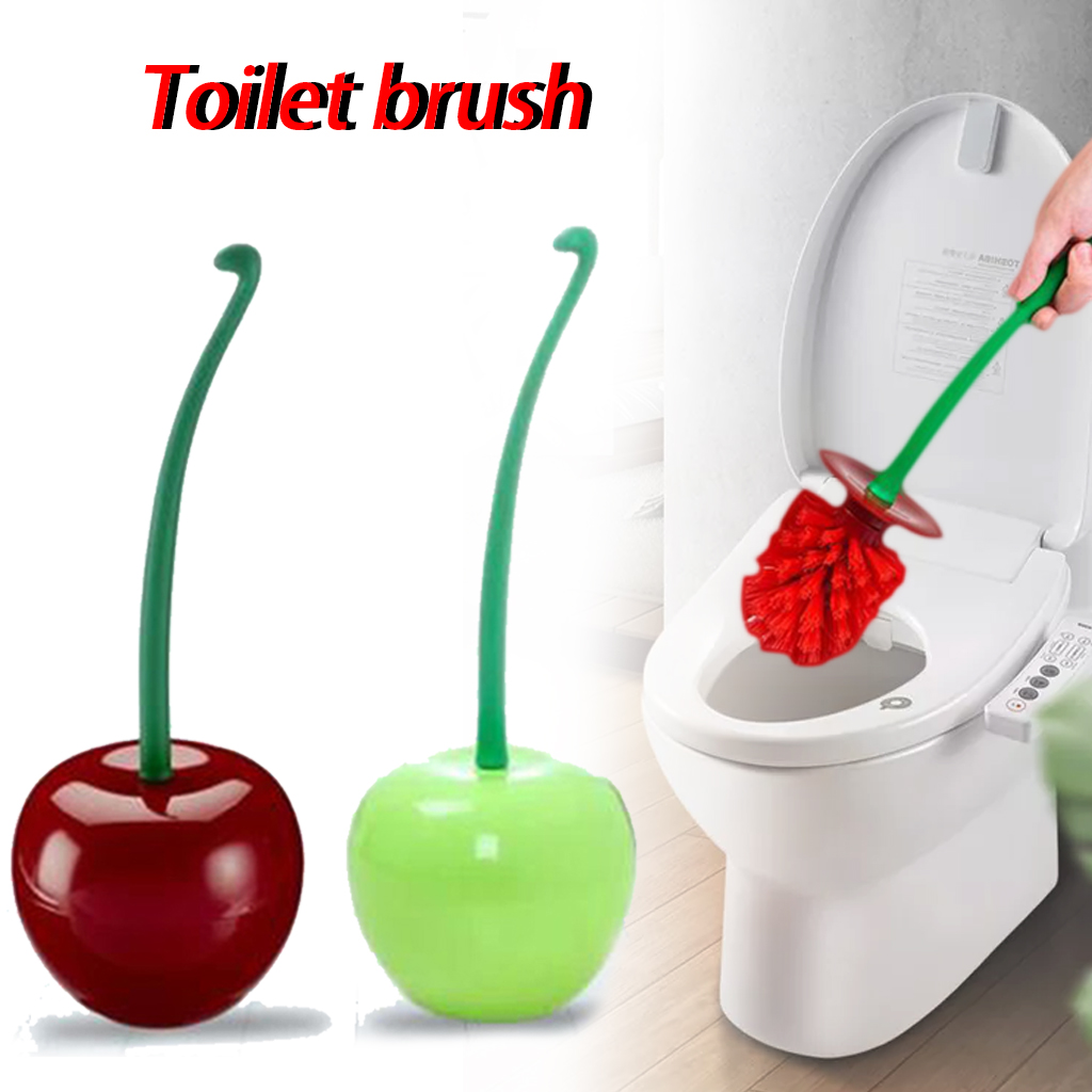 Cherry Shape Toilet Brush Floor-Standing Wall-Mounted Base Cleaning Brush For Toilet WC Bathroom Accessories Set Household Items