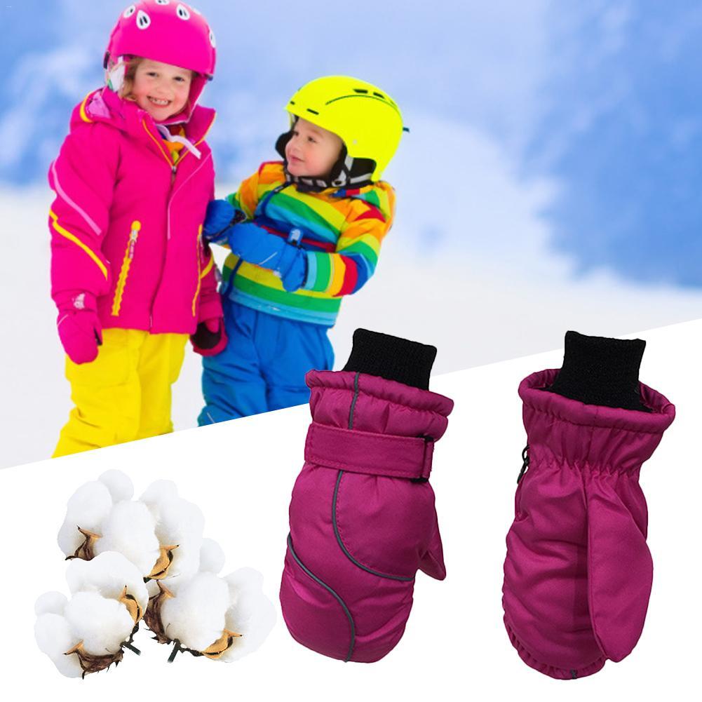 Children's Gloves Thicken Ski Gloves Windproof And Waterproof Warm Gloves For Children Thicken Keep Warm Winter Must