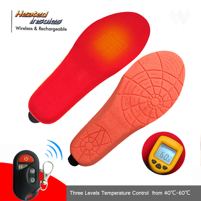 1800Mah Heating Insoles With Wireless Remote Winter & Spring Plush Women Men Warm Electric Insoles EUR Size 35-46 Cut To Fit