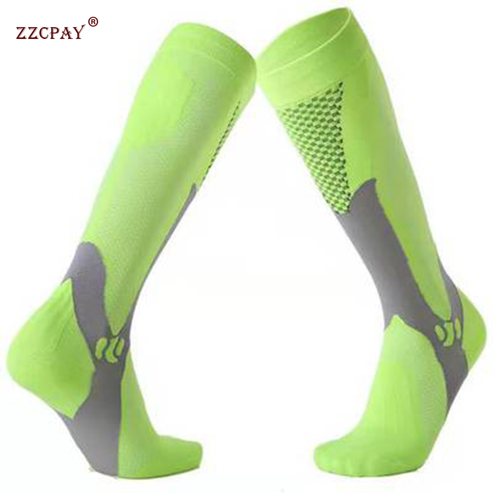 Large Size Compression Socks Fit For Sports Run Marathon Compression Socks For Varicose Veins Football Stockings High Stockings