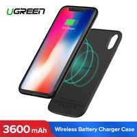 Ugreen 3600mAh Wireless di Ricarica Cassa di Batteria per il iPhone X XS Esterno Senza Fili di Carica Della Batteria di Copertura