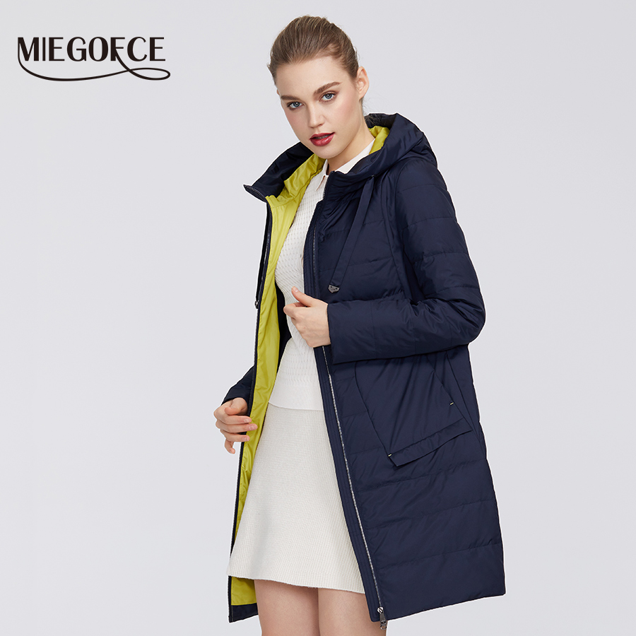MIEGOFCE 2020 Designer New Spring Women´s Collection Women Cotton Jacket Medium-Long Windproof Coat Stylish Women Warm Jacket
