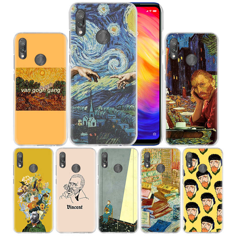<font><b>Van</b></font> <font><b>Gogh</b></font> Sky Case for <font><b>Xiaomi</b></font> <font><b>Mi</b></font> 9T CC9 CC9E <font><b>A3</b></font> Lite 8Lite Redmi Note 7 K20 Pro Hard PC Carcasa <font><b>Fundas</b></font> Capa Phone Coque Cover Bag image
