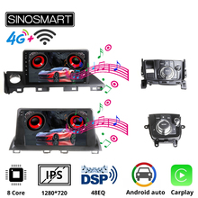 SINOSMARTรถนำทางGPSสำหรับMazda 3 Axela 2014 2019สำหรับมาสด้า6 Atenza 2017 2018สนับสนุน8 Core DSP 48EQ 2G/4G RAM