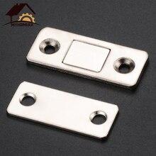 Myhomera 2 шт./компл. сильный устройство для закрывания дверей Магнитный Фиксатор двери защелка: магнитный дверной замок для мебели шкаф с винтами ультра тонкий