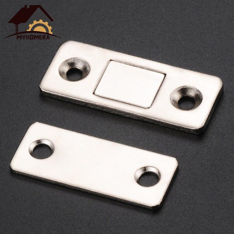 Myhomera 2 шт./компл. крепкая дверная приставка Магнитная дверная защёлка, шпингалет магнит двери для мебельного шкафа шкаф с винтами ультра тон...