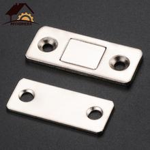 Myhomera 2 sztuk zestaw silne drzwi bliżej drzwi magnetyczne zatrzask zatrzask magnes na drzwi do szafka szafka ze śrubami Ultra cienkie tanie tanio Maszyny do obróbki drewna Łapie drzwi i drzwi bliżej Catch Latch Metal + Magnet 41 5*16 5mm (1 6*0 65 inch) 29mm(1 14 inch)