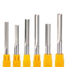 5 Pçs/lote 3.175 milímetros 4 milímetros 6mm 2 8 milímetros Shank Flauta Tungsten Carbide End Moinho CNC Router Bit Bit Gravura Fresa Reta Ranhura