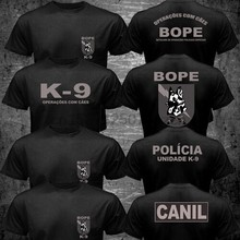 Novo brasil swat bope forças especiais polícia K-9 cão canino canil unidade 2020 engraçado algodão casual camiseta superior impresso t camisa