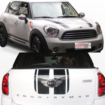auto Decal hood and Rear stickers suitable for mini cooper countryman R60 paceman R61 jcw car accessories