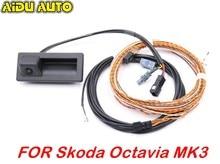 Dla Skoda Octavia MK3 superb 3V B8 widok z tyłu uchwyt bagażnika z kamerą z Highline kable w wiązce 3V0 827 566 N