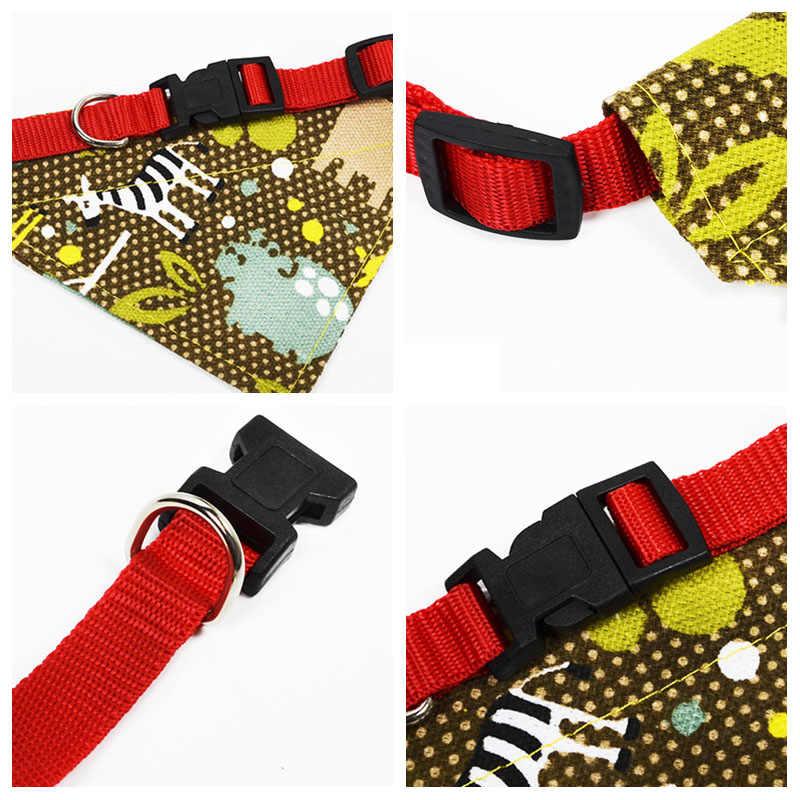 ペットスカーフ猫犬子犬バンダナビブ調節可能なキャンバススカーフ小中大犬の首輪よだれドリブルビブペットアクセサリー