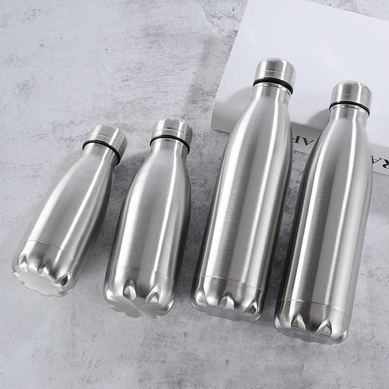 500/1000ml Edelstahl Wasser Flasche Tragbare BPA FREI Wasser Trinken Flasche Gym Sport Radfahren Drink Kinder Schule geschenke