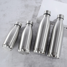 500 1000ml Stainless Steel Water Bottle Portable BPA free Water Drinking Bottle Gym Sports Cycling Drinkware Kids School Gifts cheap TCJJ CN(Origin) Adults Water Bottles Eco-Friendly Stocked Direct Drinking Hiking Equipped None In-Stock Items With Lid Applicable