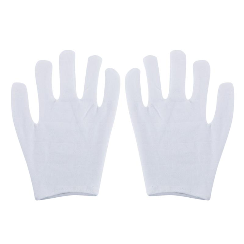 6 Pair White Gloves Cotton Ceremonial Gloves For Serving / Waiters / Drivers / Jewelry Gloves Silver Inspection Work Gloves