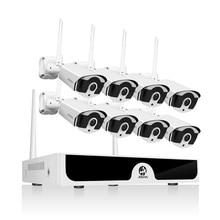 8CH NVR Sistema TVCC Wireless 1080P 1TB 2TB 2MP NVR IP IR CUT Outdoor CCTV Macchina Fotografica del IP di Sicurezza sistema di Video Sorveglianza Kit H.265