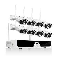 Sistema Inalámbrico CCTV de 8 canales, 1080P, 1TB, 2TB, 8 Uds., conjunto de 2MP, NVR, IR CUT IP, cámara CCTV para exteriores, Kit de sistema de seguridad IP