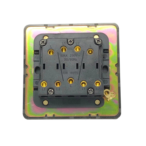 Image 3 - LIWBET Black Color 3 Gang 2 Way Wall Switch And AC220~250V Stainless Steel Panel Light Switch With Gold Color Toggle