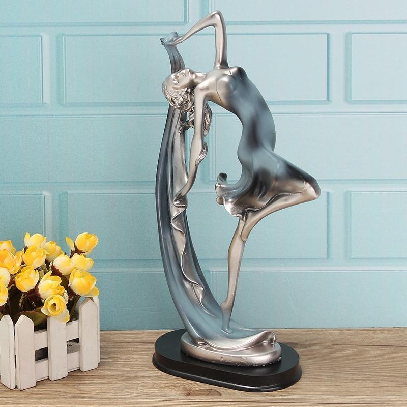 Unique Graceful Ballet Girl Dancing Dancer Figurine Ballerina Statues Sculpture Ornament Home Decor Craft Art Gifts