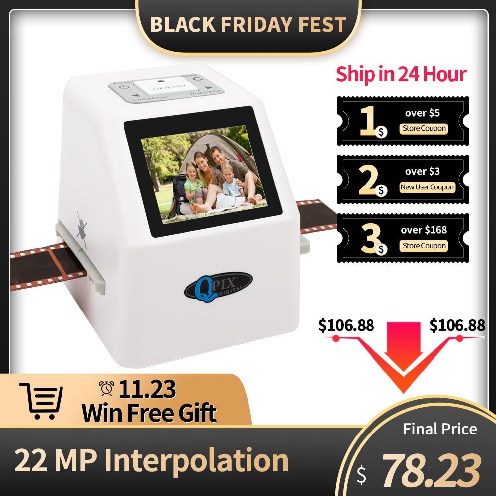 Converter Scanner Slide-Film 35mm Super-8 LCD 22-Mp 110 135-126kpk High-Resolution