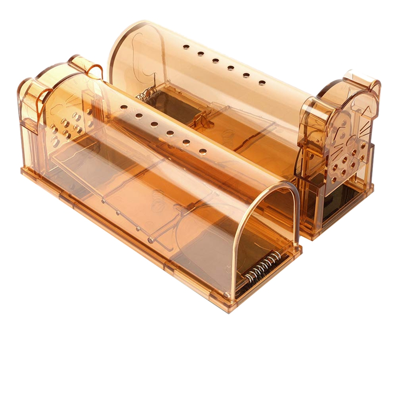 MOOL Upgrade Version Smart Humane Mouse Trap With Air Holes, No Chemical, Reusable, No Kill, Live Catch Mice Catcher And Relea