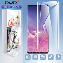 Original Box Full Curved Tempered glass For Samsung Galaxy Note 10 9 8 S8 S9 S10 Plus screen protector For Samsung a50 Film 5G +(China)