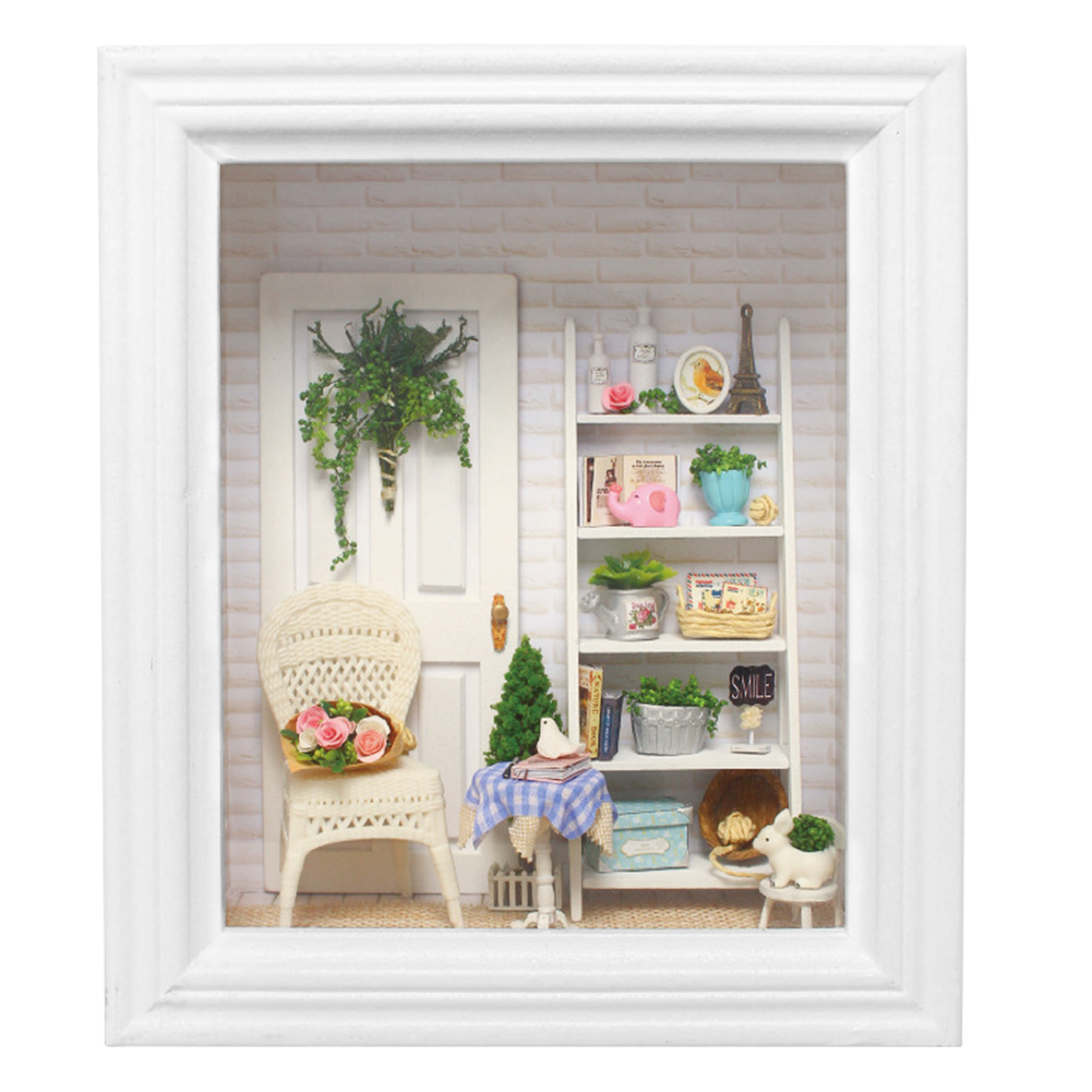 Photo Frame Wooden Furniture Miniature Dollhouse Toys Building Model House
