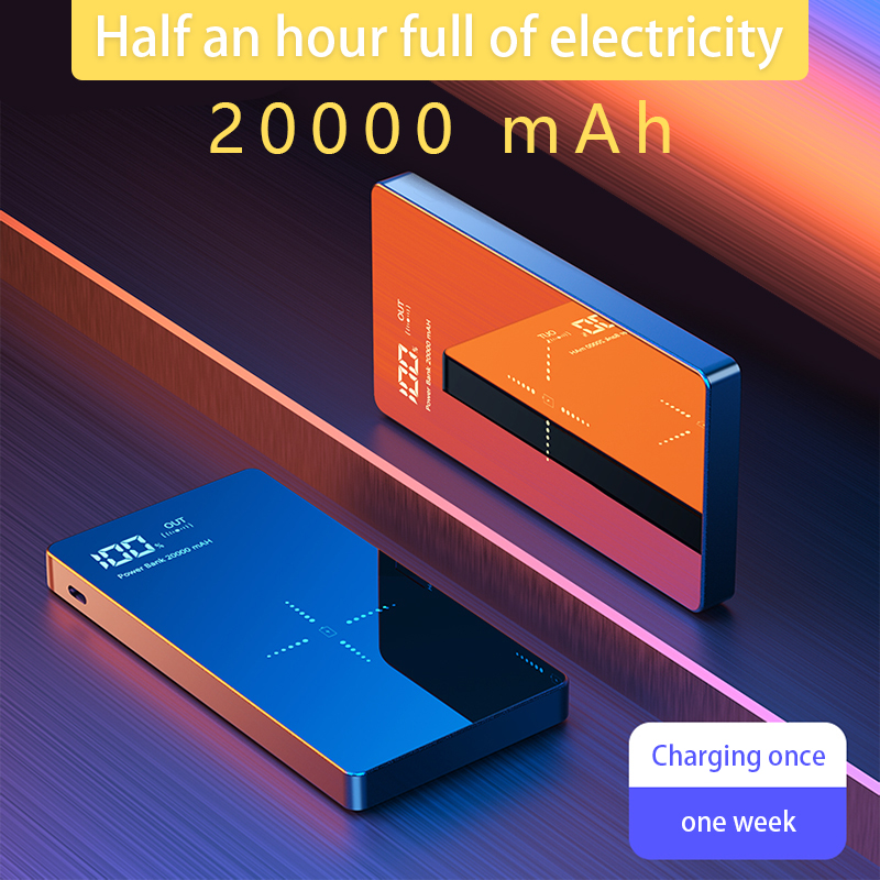 For Xiaomi Power Bank 20000mAh Portable Charger Dual USB Mi External Battery Bank Wireless Charger Power Bank For Mobile Phones