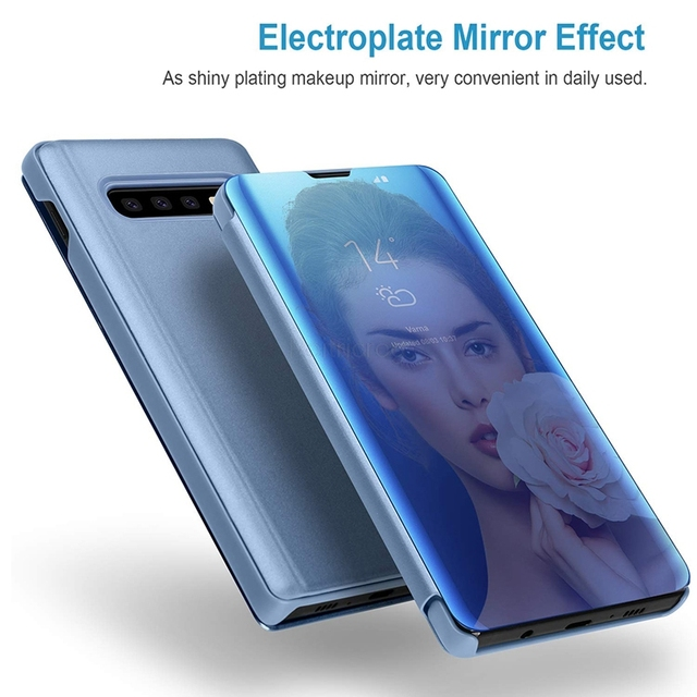 Smart Mirror Flip Case For Samsung Galaxy Note 10 9 8 S10 S9 S8 Plus S7