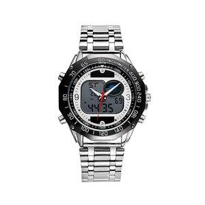 Image 4 - 6.11 New Solar Watch Men Alloy Quartz Dual Time Mens Watches Waterproof Wristwatch Led Digital Relogio Masculino
