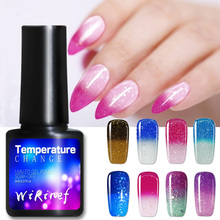 8 Ml Thermal Nail Polish Temperature Color Uv Gel Nail Polish Glitter Nails Varnish Sequins Shinning Soak Off Nail Art Lacquer dmk fishing reels spinning reel 8 1bb 5 2 1 all metal freshwater saltwater power fishing reel with cover bag fishing