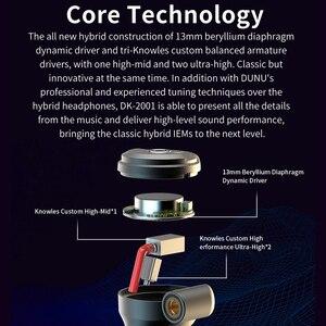Image 4 - DUNU DK2001 היי Res 3BA + 1DD היברידי נהגים ב אוזן אוזניות IEM עם MMCX עצמי נעילה מהיר לשינוי תקע DK 2001 DK 2001
