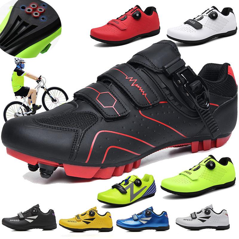 Breathable Pro Self-Locking Cycling Shoes Road Bike Bicycle Shoes Ultralight Athletic Racing Sneakers Zapatos Ciclismo