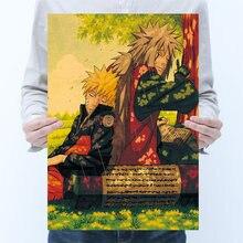 Винтажный мультфильм аниме Наруто постер для рисования украшение
