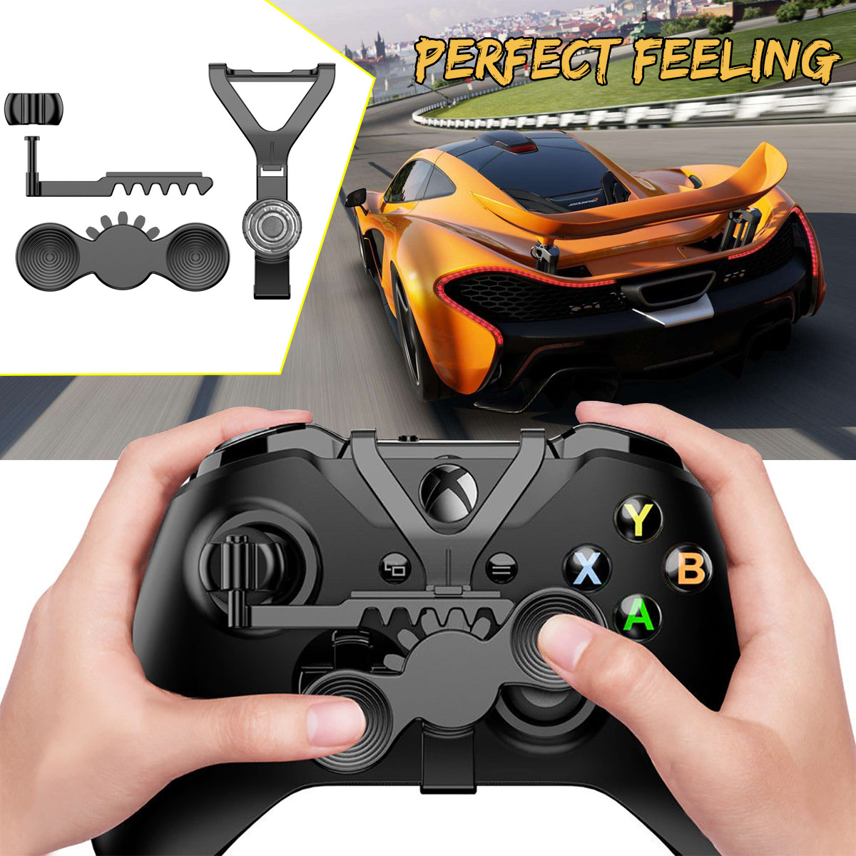 Racing Replacement Mini Steering Wheel Controller Add-on for Racing Games for Xbox One S for XBox One X Controller Games image