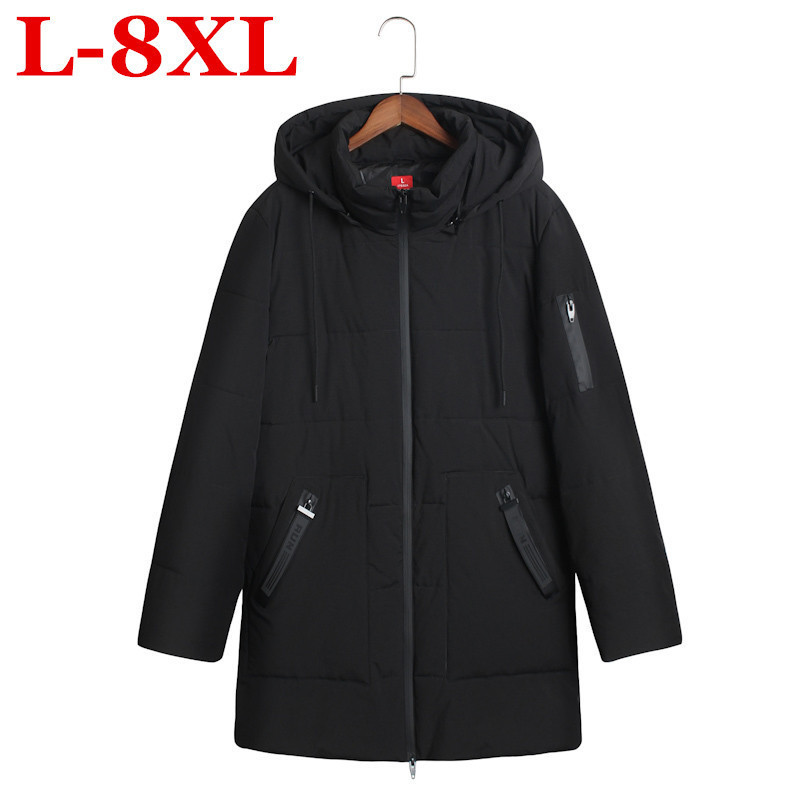 Plus Size New Men's Cotton-padded Clothes  Winter Coat And Fertilizer XL Down Cotton Coat 8XL 7XL 6XL Thick Free Shipping Jacket