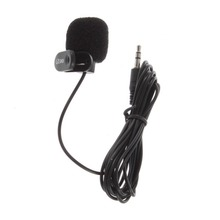Clip on Microphone Hands Free Clip on 3.5mm Mini Studio Speech Microphone For Computer PC Laptop Hot high quality special black hands free clip on 3 5mm mini studio speech microphone