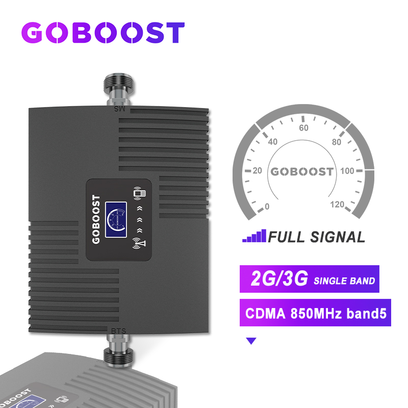 Signal Booster Mobile Phone 850mhz Booster CDMA GSM 2g 3g LCD Display Mini Amplifier Signal Network 65dB 2G GSM Repeater NEW  *